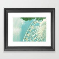 on the ferris wheel Framed Art Print