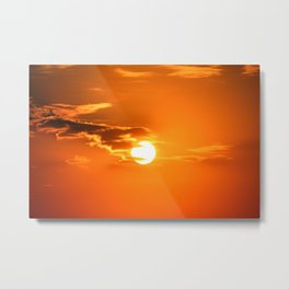 Shining Sun And Clouds Metal Print
