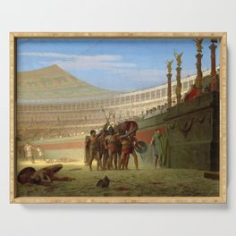 Jean-Leon Gerome - Ave Caesar, Morituri Te Salutant - Digital Remastered Edition Serving Tray