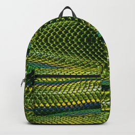 Bright Yellow Green Snake Reptile Scales Photograph Backpack
