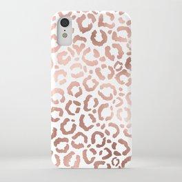 Chic Rose Gold Leopard Cheetah Animal Print iPhone Case