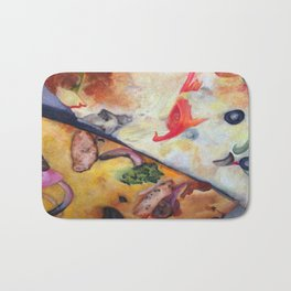 Pizza Lovemaking (LARGER SIZES) Bath Mat