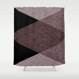 Black and brown marble Shower Curtain