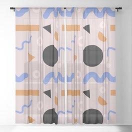 big shape Sheer Curtain