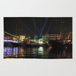 Marmaris Marina Nightscape Rug