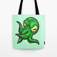 cthulhu Tote Bags featuring Cthulhu by Artistic Dyslexia