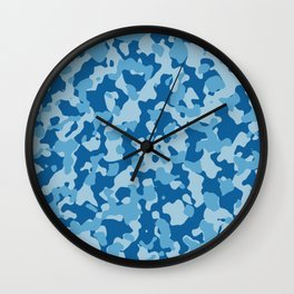Camouflage Ethereal Crystal Wall Clock