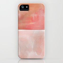 Hue in Red Orange iPhone Case