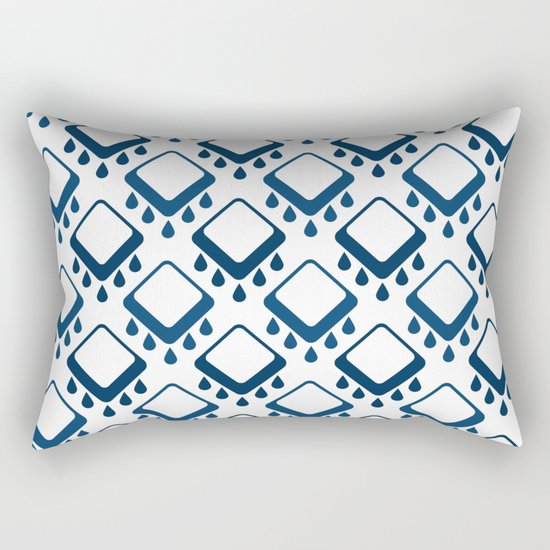 Abstract colorful geometric pattern .Blue and white . Rectangular Pillow