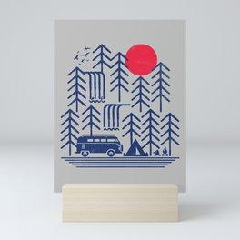 Camping Days / Van nature minimal birds sun Mini Art Print
