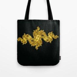 golden dragon on black Tote Bag