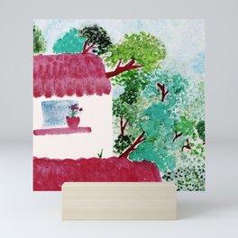 House in the woods Mini Art Print