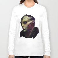 mass effect Long Sleeve T-shirts featuring Mass Effect: Thane Krios by Ruthie Hammerschlag
