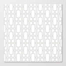 Simply Mid-Century Retro Gray on White Canvas Print