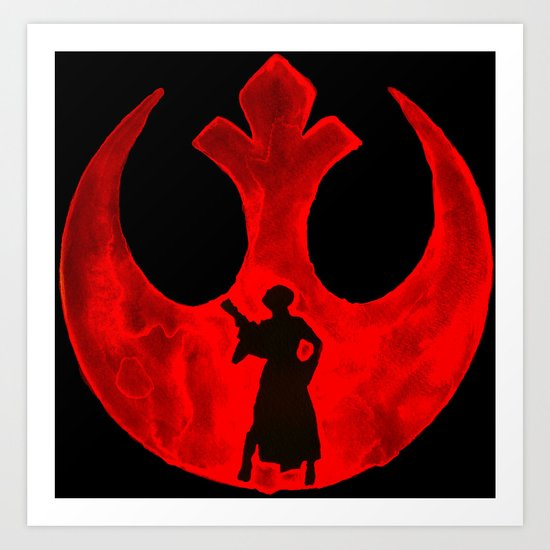 Star Wars Princess Leia in Red  Art Print