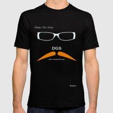 Dirty Ginger Stache Black SMALL Mens Fitted Tee