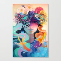 Canvas Prints featuring Fleur by AlexToothArt
