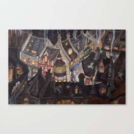 Roofs of magic town Canvas Print