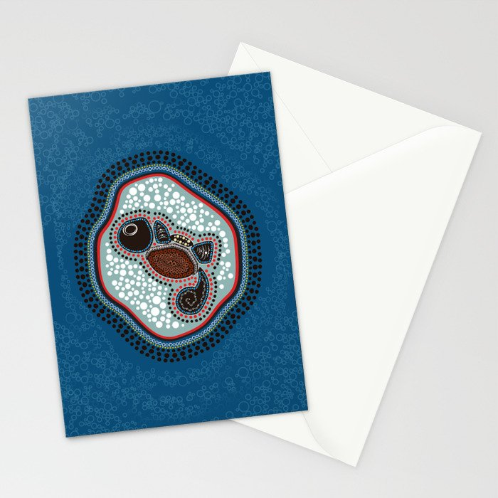 Aboriginal Water Turtle Stationery Cards