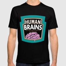 Human Brains Mens Fitted Tee Black MEDIUM