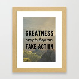 Motivational Poster - Take Action! Framed Art Print