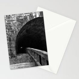 Paw Paw Grunge Tunnel - Black & White Stationery Cards