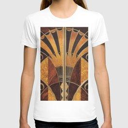 art deco wood T-shirt