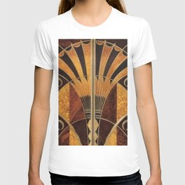 art deco wood T-shirt
