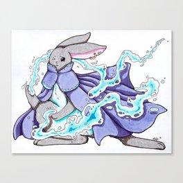 Water Bending Bunny Canvas Print
