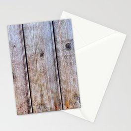 Old Fence Planks With Rust, Wood Decor Stationery Cards