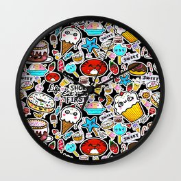 Life is short, eat dessert first. Wall Clock