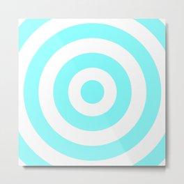 Target (Aqua & White Pattern) Metal Print