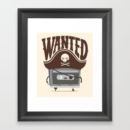Pirate music Framed Art Print