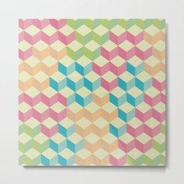 Sugar Cubes Geometric Pattern Metal Print