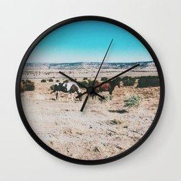 Wild horses, Nevada Wall Clock