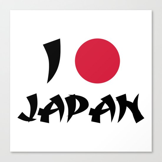 I Love Japan Quote Canvas Print