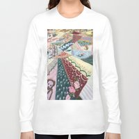 quilt Long Sleeve T-shirts featuring Quilt Design by Sara Hazaveh
