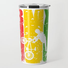 "Reggae Mexican Biking Tee For Bikers With Unique Awesome Style ""BMX"" T-shirt Design Upside Down  Travel Mug"