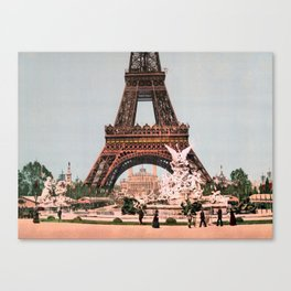 Eiffel Tower - The Exposition Universelle at Paris - 1900 Canvas Print