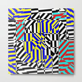 Best Abstract Art (80s Aesthetic Shapes) Metal Print