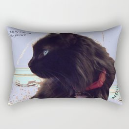 Kitty Cat on the Prowl Rectangular Pillow