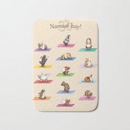 The Yoguineas - Yoga Guinea Pigs - Namast-hay! Bath Mat