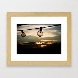 Unlit Sunset.  Framed Art Print