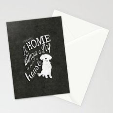 Home with Dog Stationery Cards