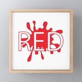 Red creative typography design Framed Mini Art Print