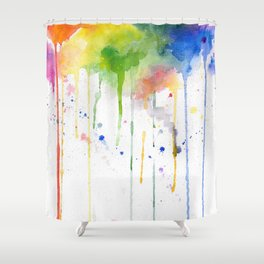 RainbowColor Burst 1 - Watercolor #Society6 Shower Curtain