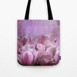 Violet Tulip Watercolor Wash Tote Bag
