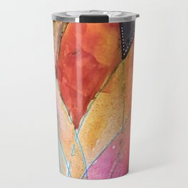 Lotus Dreaming in Colour and Dots Travel Mug