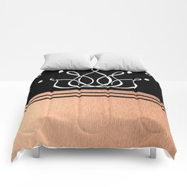 The Lux: Rose Gold Comforters