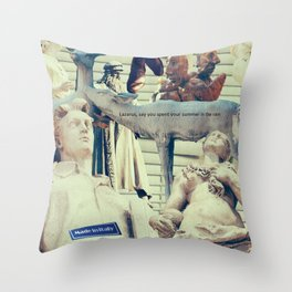 Come to me, I'll rest your soul Throw Pillow